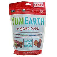 Органические натуральные леденцы на палочке, 50 штук, Yummy Earth, 350 г