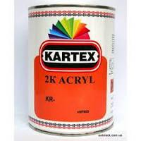 201 Белая 2К KARTEX Акриловая эмаль 2:1 (комплект 0.8 л + 0,4 л)