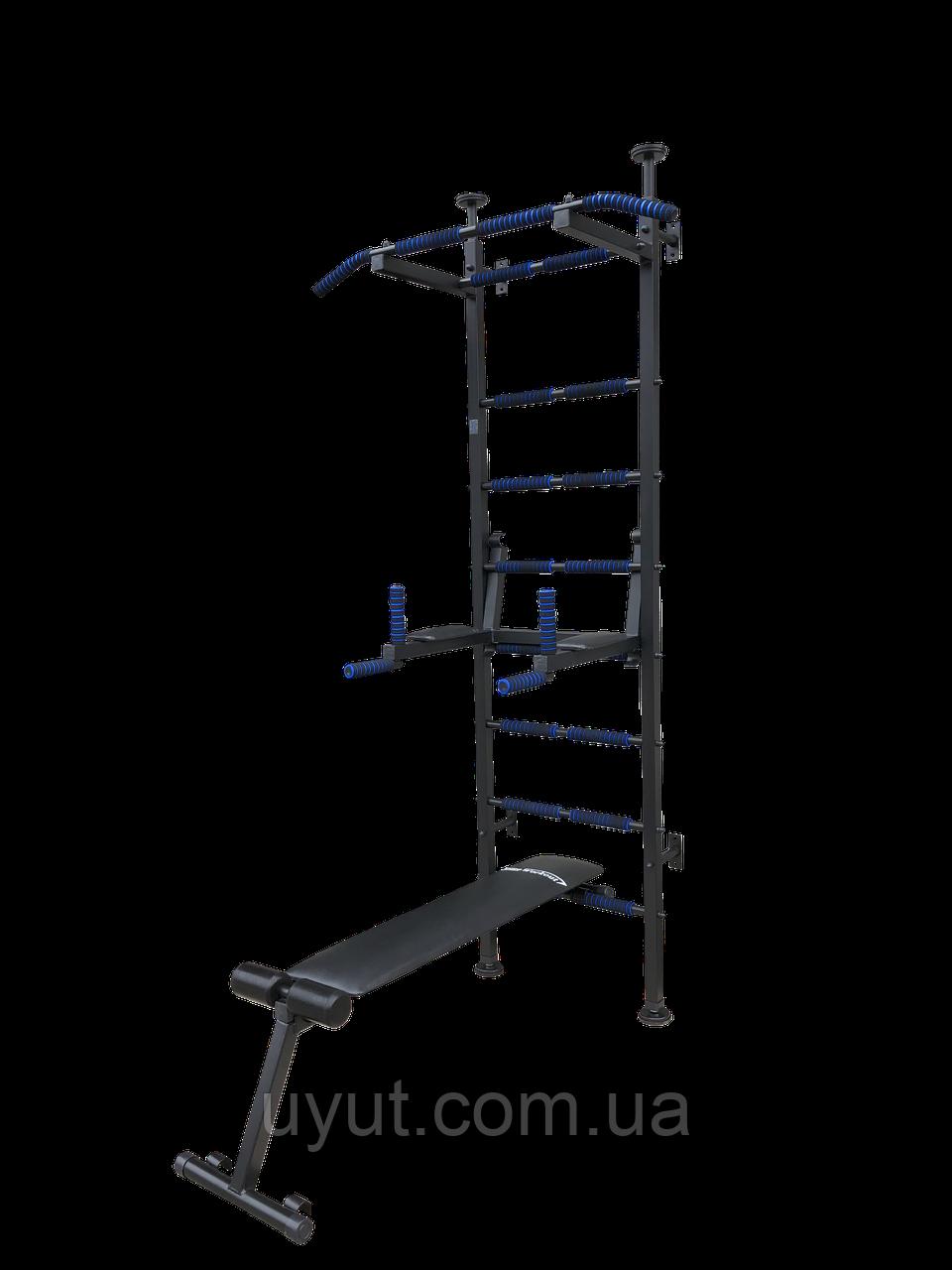 Шведская стенка спортивная «Fitness Pro m.2 ТМ Уют Спорт» (Black)