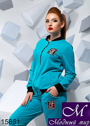 Батальный спортивный костюм голубого цвета (р. 48, 50, 52) арт. 15851, фото 2
