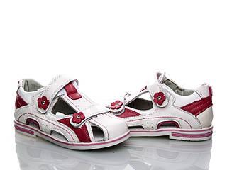 Обувь для девочек, детские кожанные босоножки ортопедические Clibee (Румыния)