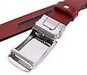 Мужской ремень из натуральной кожи под брюки MGA101-10 красный, фото 4