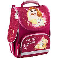 Рюкзак Kite P18-501S Princess школьный каркасный детский для девочки 34 см х 26 см х 13 см