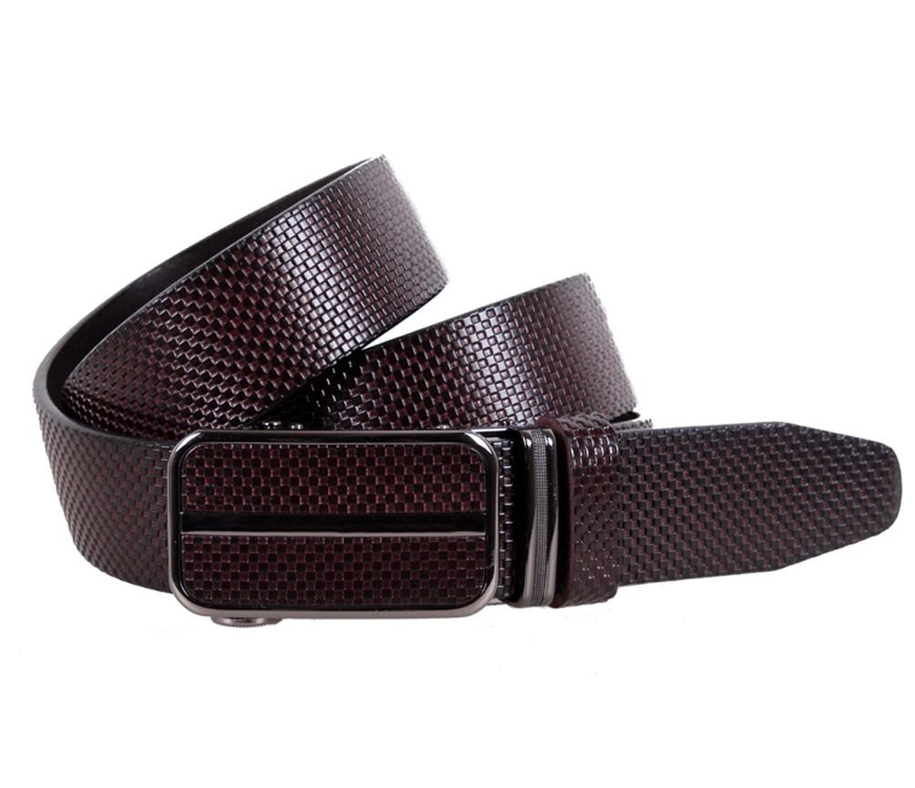 Мужской ремень из натуральной кожи под брюки MGA101-1 коричневый