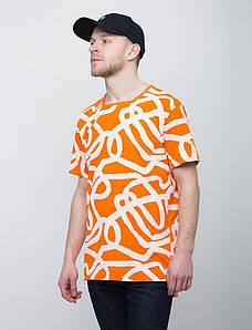 Молодежная оранжевая футболка UrbanPlanet - LINES OR