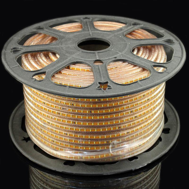 Лента светодиодная 220V smd 3014-120; тёплый белый