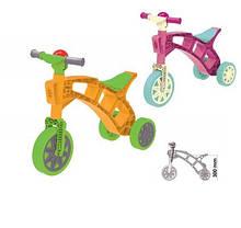 Ролоцикл 3 (Рожевий, помаранч) Технок Толокар мотоцикл