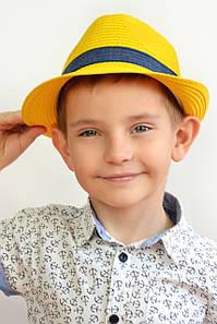 Шляпа детская Барбадос желтая