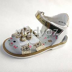 Детские босоножки сандалии для девочек, девочки 21р. золотистый Y.Top
