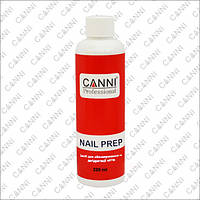 CANNI Nail Prep - обезжириватель, дегидраторс антибактериальным эффектом, 220 мл