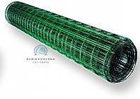 Сварная сетка с полимерным (ПВХ)  покрытием для ограждений и заборов. Ячейка 50х100, рулон 10 м,высота 2м, фото 1