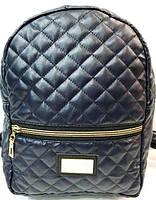 Городские рюкзаки кожзам (синий стеганный)22*30, фото 1