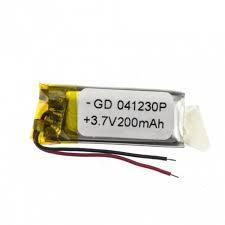 Аккумулятор универсальный 040830 (Li-ion 3.7В 200мА·ч), (30*08*4 мм)