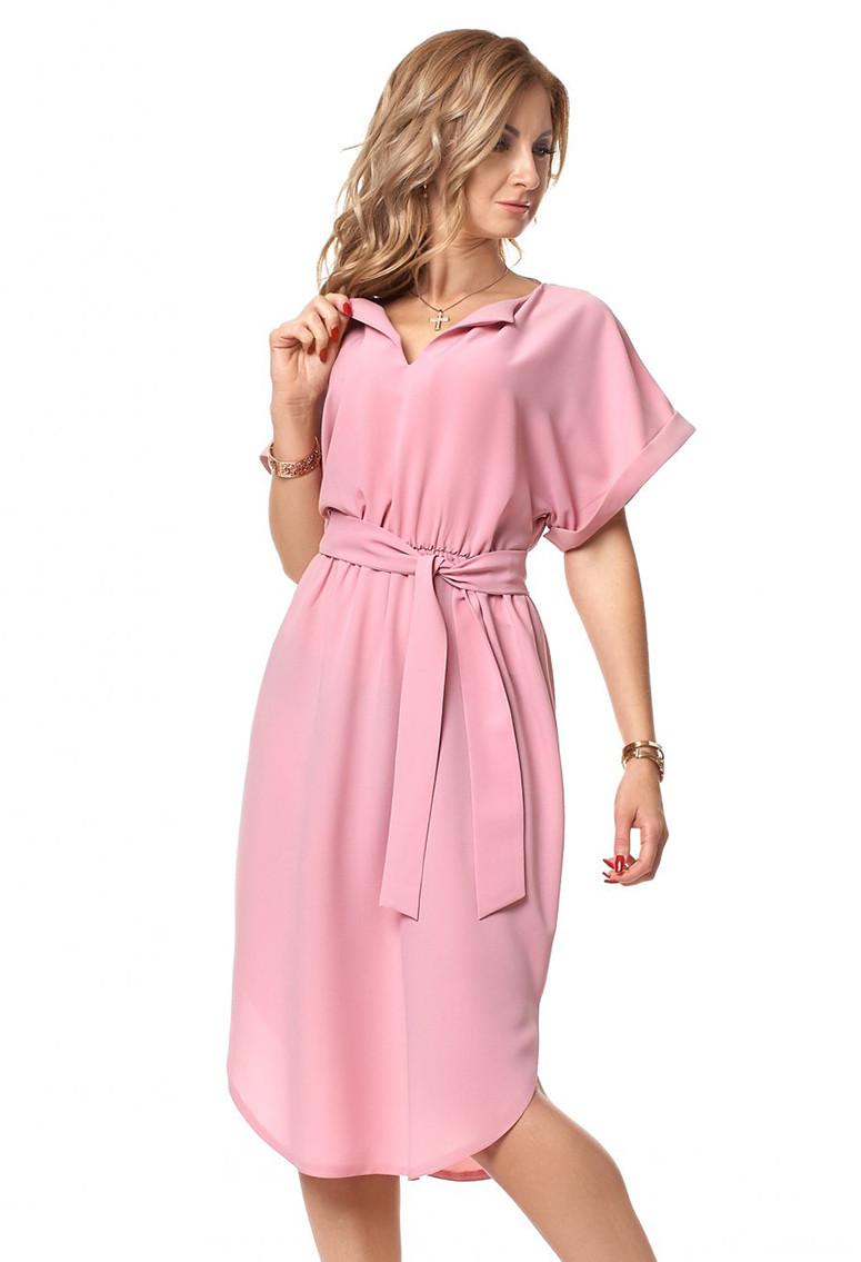 b16929bfefa Купить Легкое летнее платье розового цвета. Модель 1070. Размеры 44 ...