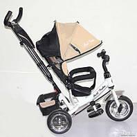 Велосипед трехколёсный Best Trike 6588 Бежевый с белой рамой