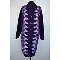 Пальто вязаное женское на пуговицах, фото 1