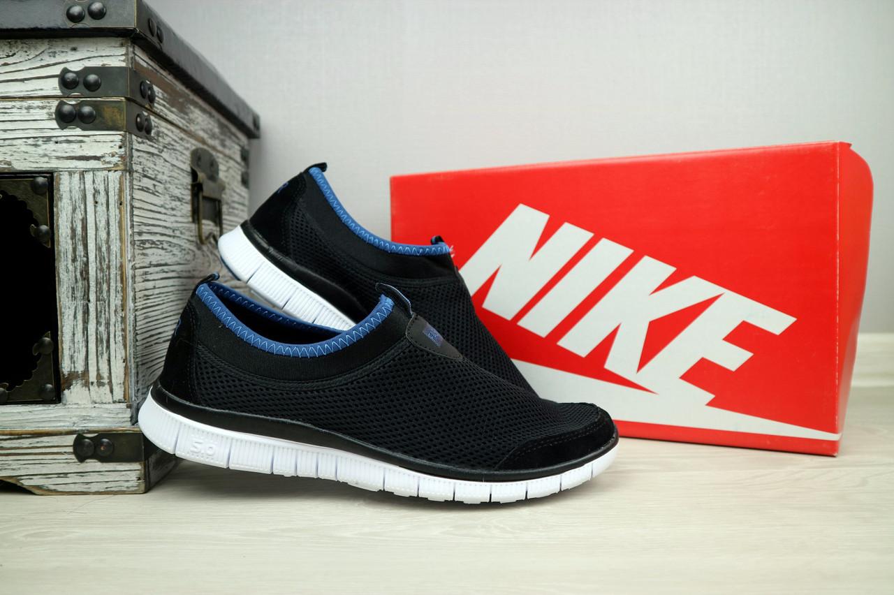 Мужские кроссовки Nike Free Run 5.0 (черные), ТОП-реплика
