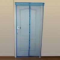 Антимоскитная штора с напечатанным изображениемна комбинированом магните 90*210 синяя