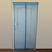 Антимоскитная штора с напечатанным изображениемна комбинированом магните 90*210 синяя, фото 1