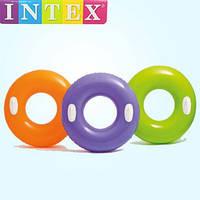 Детский надувной круг для плавания с ручками / Надувной плавательный круг / Надувной круг для бассейна