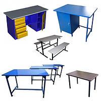 Столы - Верстаки слесарные и сварочные из металла | Цена металлического верстака стола изготовителя