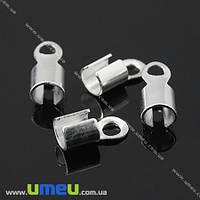 Зажим, 10х5 мм, Светлое серебро, 1 шт. (ZAG-008471)