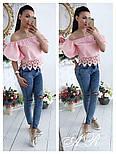 Женская блуза с кружевом (2 цвета), фото 2
