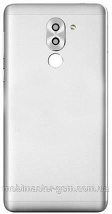 Задняя крышка Huawei Honor 6X (BLN-L21), Mate 9 Lite, GR5 (2017) серебристая, фото 2