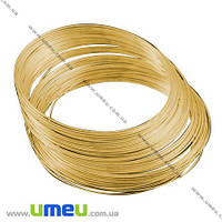 Основа для браслета, Проволока с памятью, Золото, 5,5 см, 0,6 мм, 1 виток. (OSN-002685)