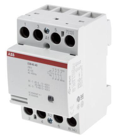 Модульный контактор ABB ESB40-40 (12V), GHE3491102R1004