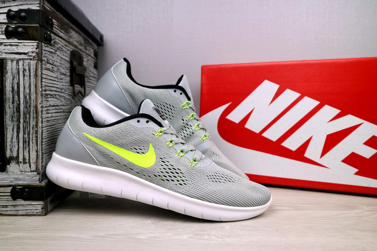 Мужские кроссовки Nike Free Run 3.0 (серые), ТОП-реплика