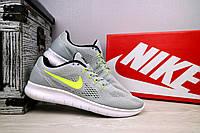 Мужские кроссовки Nike Free Run 3.0 (серые), ТОП-реплика, фото 1
