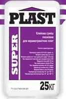 Клей т.м. PLAST «SUPER» для керамогранитных плит усиленный.