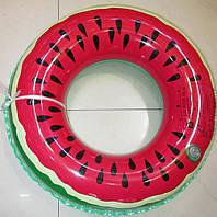 Детский надувной круг для плавания Арбуз / Надувной плавательный круг / Надувной круг для бассейна