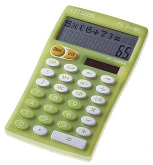 Калькулятор Citizen FC-100NBL школьный, 2стр. дисплей, фото 2