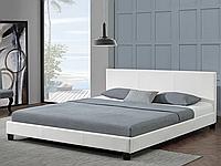 Кожаная кровать белая 180x200 Barcelona