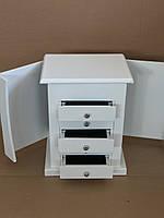 Шкаф для хранения ювелирных изделий со встроенными выдвижными ящиками и зеркалом, фото 2