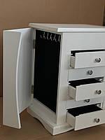 Шкаф для хранения ювелирных изделий со встроенными выдвижными ящиками и зеркалом, фото 3