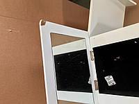 Шкаф для хранения ювелирных изделий со встроенными выдвижными ящиками и зеркалом, фото 5