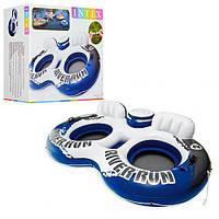 Кресло-круг надувное для плавания / Надувное плавательное кресло / Надувной круг-кресло для бассейна