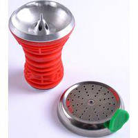 Чаша для кальяна с крышкой (силиконовая) красная