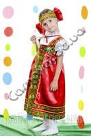 Карнавальный костюм Русская Красавица в красном цвете 104