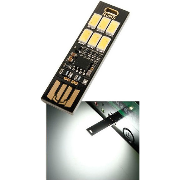 Сенсорный usb led светильник от USB-порта, управление яркостью касание