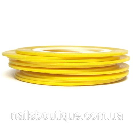 Скотч лента 1мм желтая