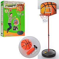 Баскетбольное кольцо M 2993 (6шт) на стойке,кольцо-металл19см,щит пласт,насос,мяч,в кор,33-47-10,5см