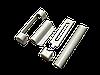 Комплект декоративных накладок Maco белые