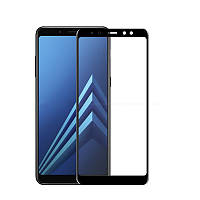 Защитное стекло 5D (Full glue) Samsung A530 (A8-2018) (Black), фото 1