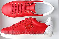 Кеды мужские красные Dolce Gabbana 41 42 43 44, фото 2
