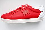 Кеды мужские красные Dolce Gabbana 41 42 43 44, фото 3