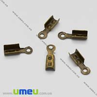 Зажимы, 8х2.5 мм, Античная бронза, 20 шт. (ZAG-004654)
